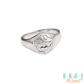 (Doraemon)Sweet appointment Doraemon gongs, 哆 A A dream sterling silver ring