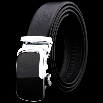 (Vaston Gaudy)Vaston Gaudy. Gaudi's top layer cowhide black mesh chrome-plated automatic buckle belt - V37G325