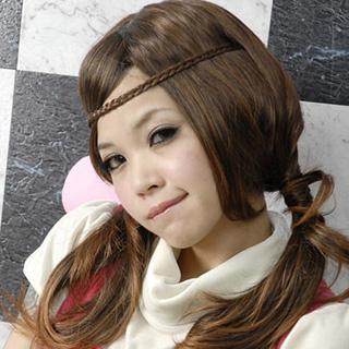 (太妃糖)Toffees youthful style braids wig hairband (3 colors)
