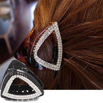 (charme)Charme Korean pop hollow triangular crystal diamond gripper