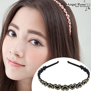 (Angel Rena)[Angel Rena] love suede bright beads headband - dark gray