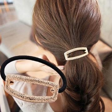 (charme)Charme Korean popular simple hollow shape pony tail hair ring gold