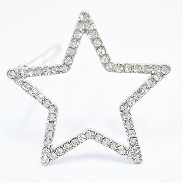 (charme)Charme Korea imported star shape rhinestone hairpin silver