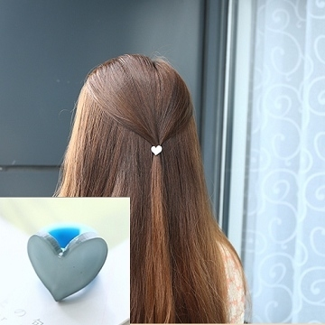 (charme)Charme Korean pop cute playful style buttoned Heart shape clip H05