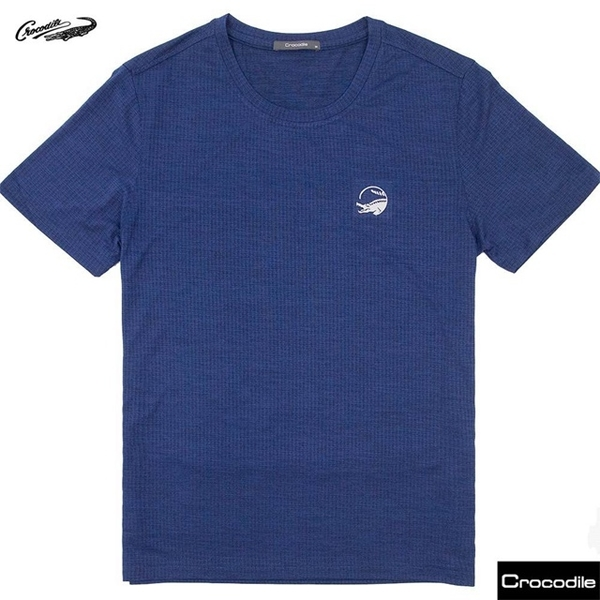 (CROCODILE)[Crocodile] T-shirt men's style - soft and comfortable plain short-sleeved T-shirt _ (Navy) C20J21210-39