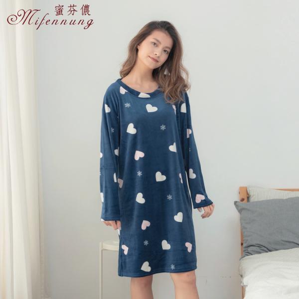 (MFN)[MFN Honey Fen] Heart-to-heart warm super soft velvet dress (2 colors)