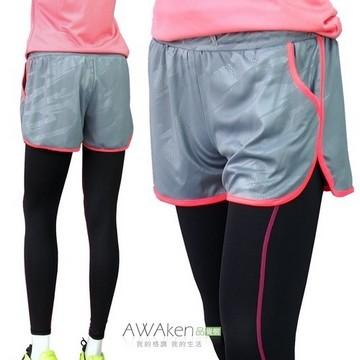 กางเกงวิ่งออกกำลังกายขนาด 2 นิ้วของผู้หญิงโดยไม่มีซับในกางเกงมาราธอน