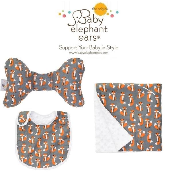 (Baby Elephant Ear)Baby Elephant Ear - Baby neck pillow + bibs + blanket set (Foxy Ear)