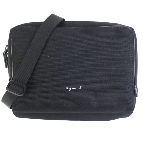 (agnes b.)agnes b. CORDURA nylon double multifunctional bag-black