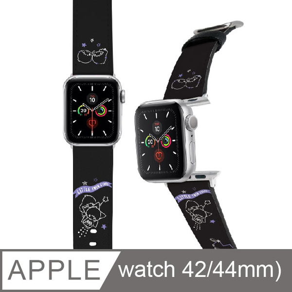 (Sanrio)Sanrio Apple Watch Leather Strap Little Twin Stars 42 / 44mm