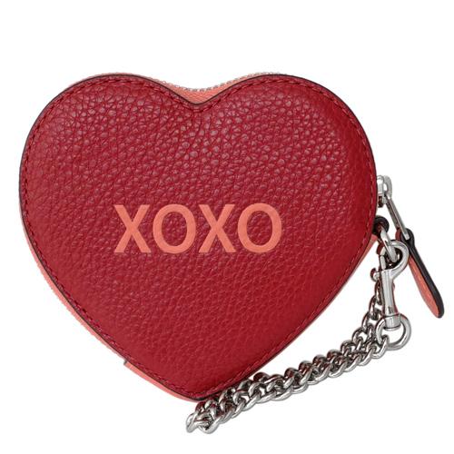 COACH แดงส้ม XOXO หัวใจกระเป๋าสายคล้องโซ่