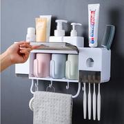 ที่วางของในห้องน้ำ ที่บีบยาสีฟัน ชุดแขวนแปรงสีฟัน