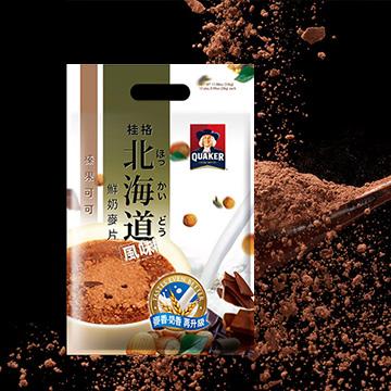 [Quaker] เครื่องดื่มข้าวโอ้ต รสนมฮอกไกโด โกโก้ เฮเซลนัท 28กรัม x 12 ซอง