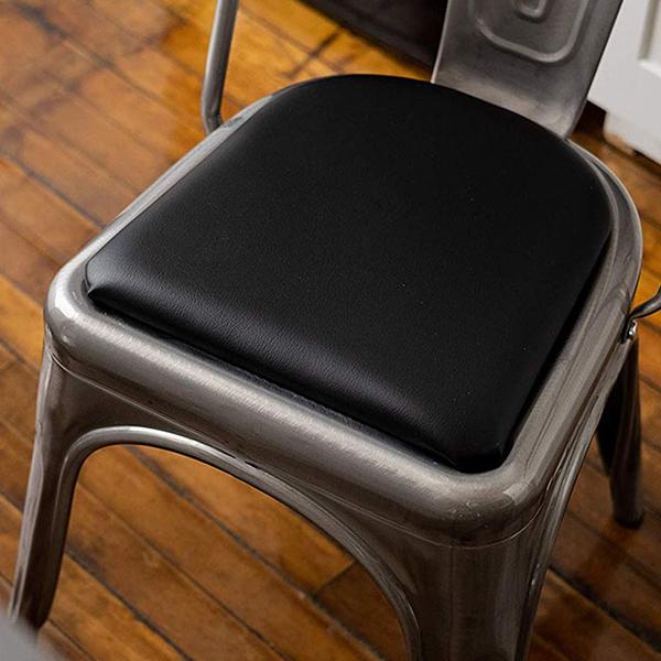 E-home SeatPad เก้าอี้รับประทานอาหารเบาะ - ดำ (สองกลุ่ม)