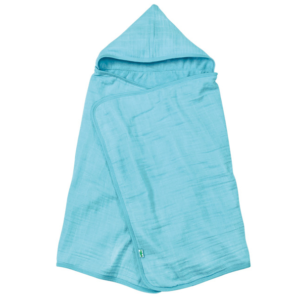 (green sprouts)United States green sprouts organic cotton gauze hooded bath towel / bag _ blue_GS336101A