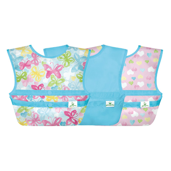 American green sprouts devil felt double-sided waterproof / anti-food drop bib three into the group _爱心蝴蝶_GS101247-AW