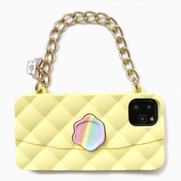 (candies)[Candies] Unicorn Dinner Bag (Yellow)-iPhone 11 Pro Max