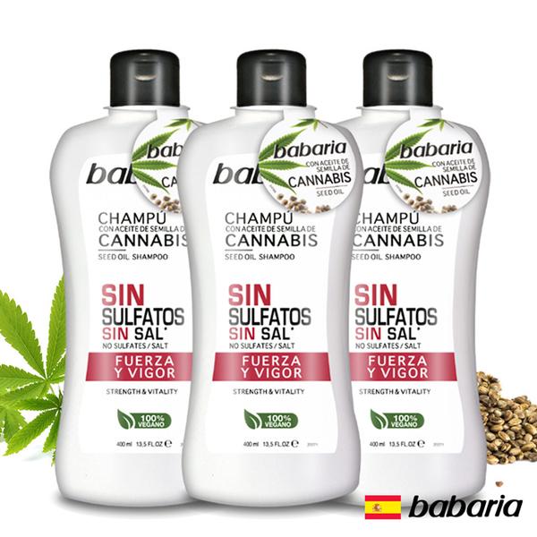 Spanish babaria hemp seed oil shampoo 400ml three into