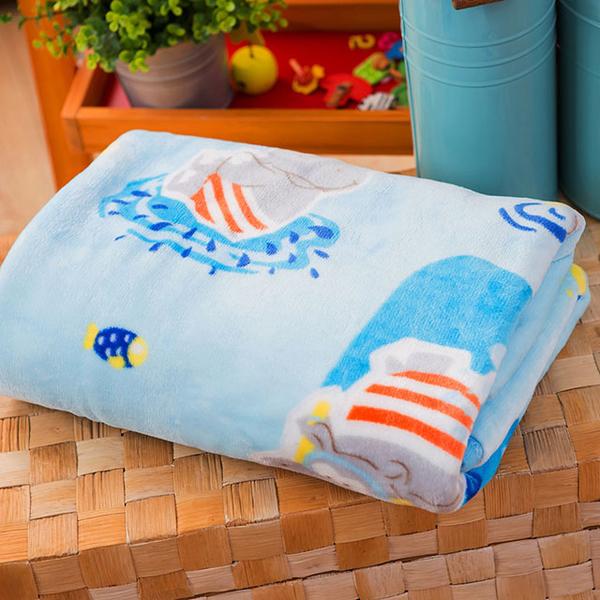 Lapin Soft ผ้าห่มหนากำมะหยี่คู่ขนาด (100x135 ซม.) ฮิปโปแฟมิลี่