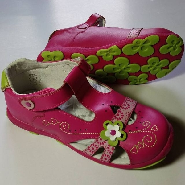 (jhs)[BOBINNI 博?尼] Model 200416a pink leather princess shoes girls shoes Korean casual sandals new student shoes genuine JHS Jieheng
