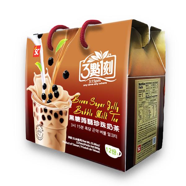 [เซ็ต 2 กล่อง] 3:15pm ชานมไข่มุกพร้อมทาน (12 ชุด / กล่อง)