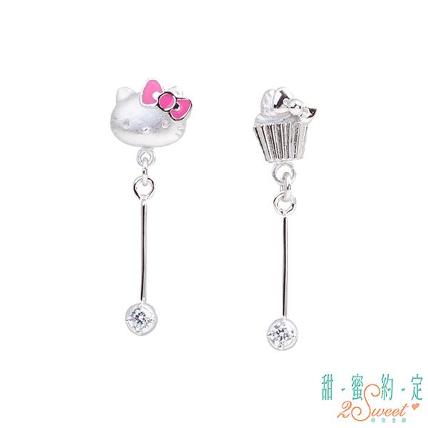 (2sweet)Sweet promise HelloKitty sweet in your heart Kitty sterling silver earrings