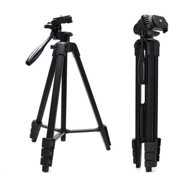น้ำหนักเบาและพกพาได้อย่างรวดเร็วขาตั้งกล้องตัวจับเวลาขาตั้งกล้อง / โทรศัพท์มือถือน้ำหนักเบาใช้งานสองขาตั้งกล้อง