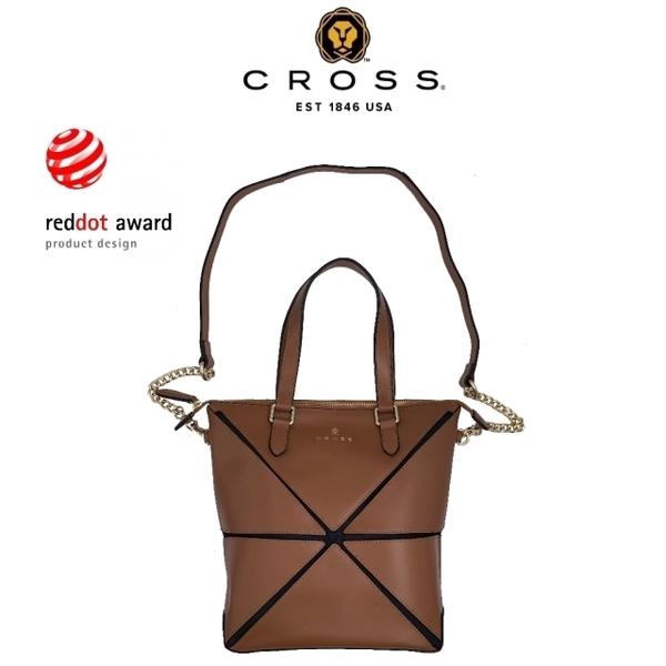 จำกัด 1.5% Red Dot Award คลาสสิกยอดนิยม NAPPA หนังวัวอ่อนทรงเรขาคณิตกระเป๋าเป้สะพายหลังด้านข้าง (เคาน์เตอร์สีน้ำตาลแสดงผล 99% ใหม่)
