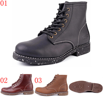 (jhs)Pathfinder mouth 57710 mouth PF autumn and winter short tube tool boots paratrooper army boots men inkjet trend leather outdoor Martin boots JHS