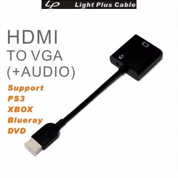 (lpc)LPC-1865 HDMI TO VGA + AUDIO for PS3 XBOX Blu-ray DVD FULL HD