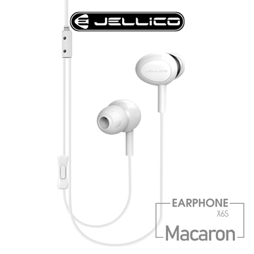(jellico)[JELLICO] Musical notes series light and good sound quality wire-controlled in-ear headphones / JEE-X6S-WT
