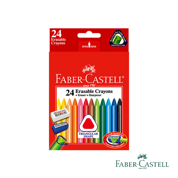(faber-castell)Faber-Castell Red Triangle Rubbing Crayon 24 colors