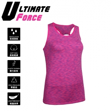"(Ultimate Force)Ultimate Force ""Forged"" Women Slim-Fit Vest (Magenta)"