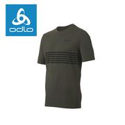 (odlo)[Swiss ODLO] Men's silver ion imitation cotton short-sleeved shirt 541382 (19800-coffee)