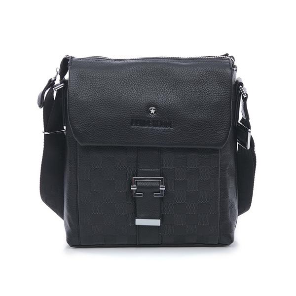 (mande rhode)MANDE RHODE-Buffalo-Genuine leather checked buckle straight cross-body bag-X60743