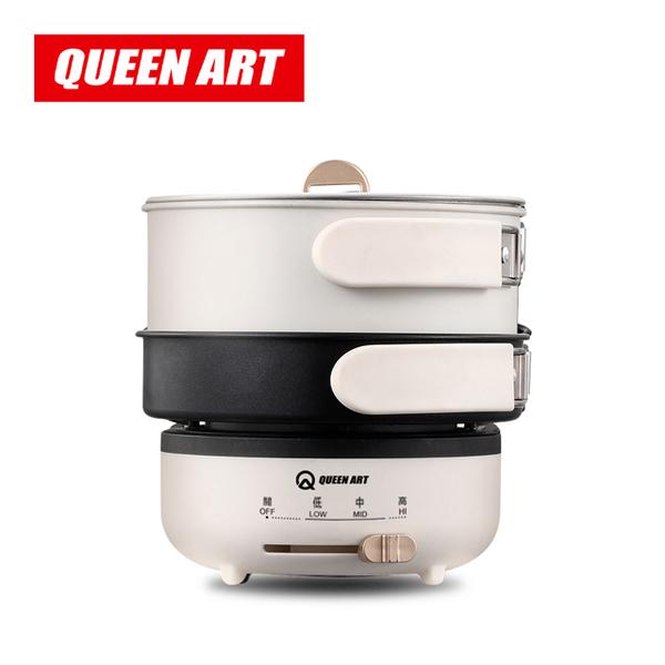 หม้อหุงข้าวไฟฟ้าอเนกประสงค์ศิลปะ Queen QA-KX99 - สีขาว