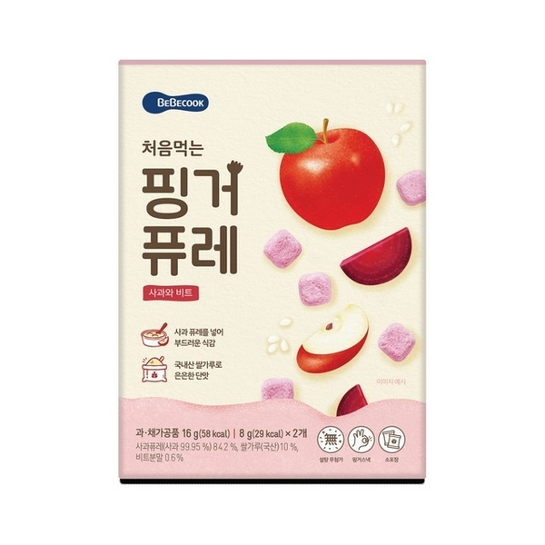 (Bebecook)South Korea 【Bebecook】 Baoshen infants and young children apple beet slush cake (16g)
