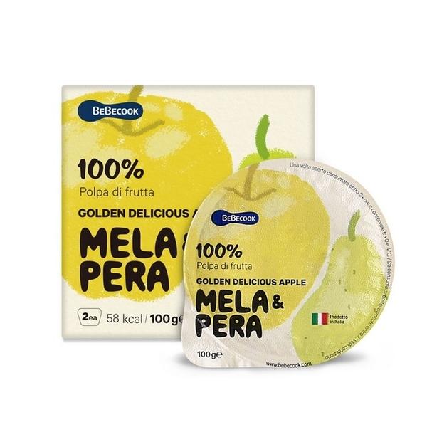เกาหลี【 Bebecook 】อาหารเด็กทารกอิตาเลี่ยนโกลเด้นแอปเปิ้ลและลูกแพร์น้ำซุปข้น (200 กรัม) (2 รายการ)