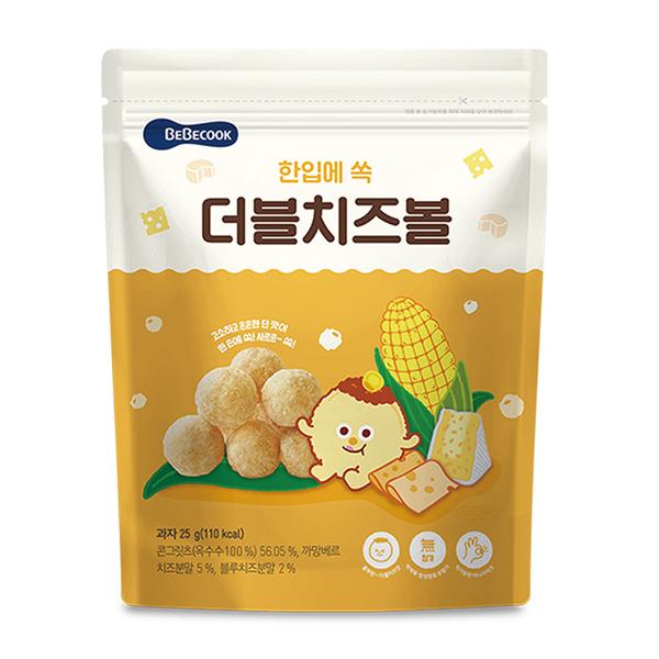 เกาหลี【 Bebecook 】ข้าวโพดอ่อนบด - ชีสคู่ (25g) (2 ผลงาน)
