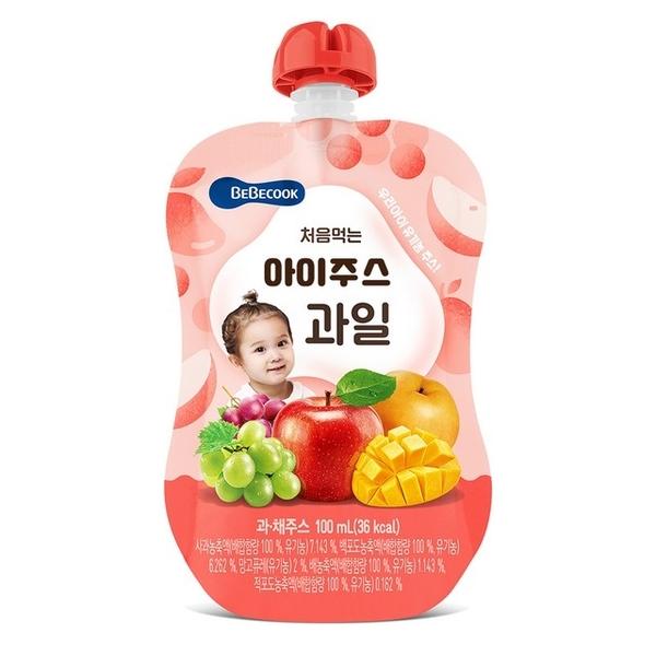 น้ำผลไม้อาหารเด็ก Bebecook เกาหลี (100 มล.)