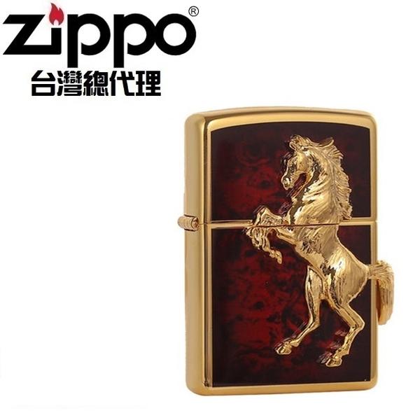 (zippo)ZIPPO GD Red winning winny classic horse (flaming red gold) windproof lighter