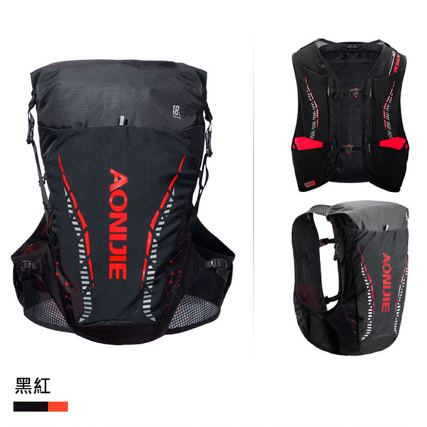 AONIJIE cycling sports running cross-country water bag backpack 18L (water bag sold separately) black red S / M