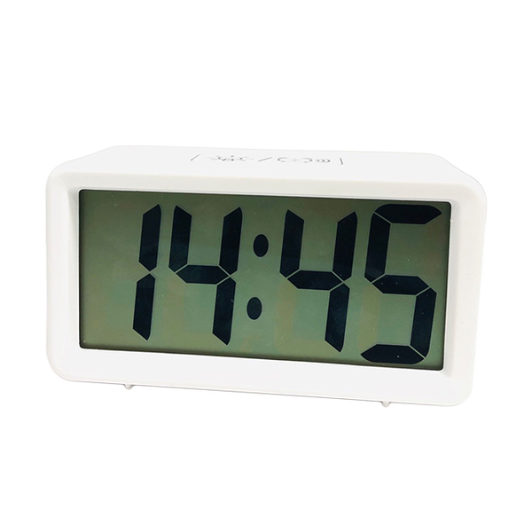 (HOSEKI)HOSEKI-Simple style clear large characters LCD fluorescent backplane snooze electronic clock (cloud white)