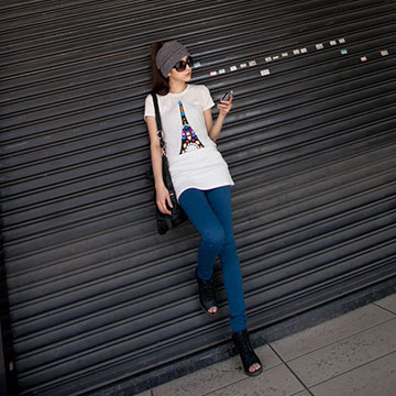Ward ตู้เสื้อผ้าลับ】 FIT กางเกงอัลตร้าช็อตกางเกงแคบบางรุ่น -C Spring / Summer Limited