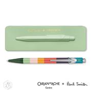 CARAN d'ACHE ปากกา Paul Smith ในกล่องเหล็กสีเขียวแอปเปิ้ล