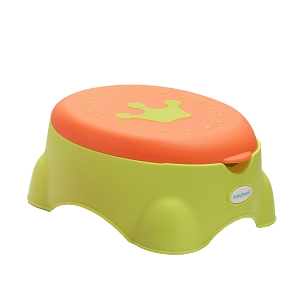 babyhood royal multifunctional learning toilet green auxiliary toilet seat stop skateboard stool storage box