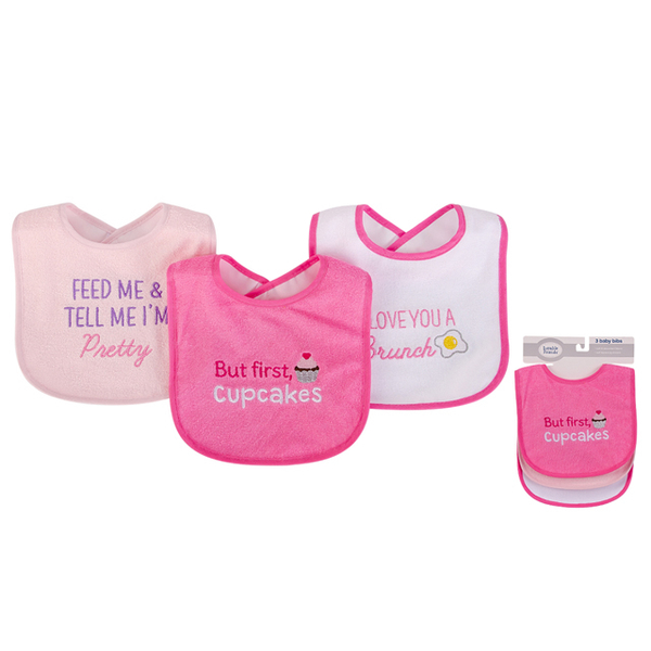 (luvable friends)American luvable friends baby bib double absorbent saliva towel bib 3 into the group _ peach color cake (LF00578)