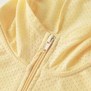 [E‧Heart] แจ็คเก็ตกันแดดกันแดดที่ระบายอากาศได้ดี (ความรู้สึกเย็นสบายสีเหลืองทินเนอร์)