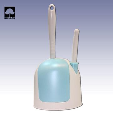 (KIKULON)Dual-use mini accessory box toilet brush - light blue