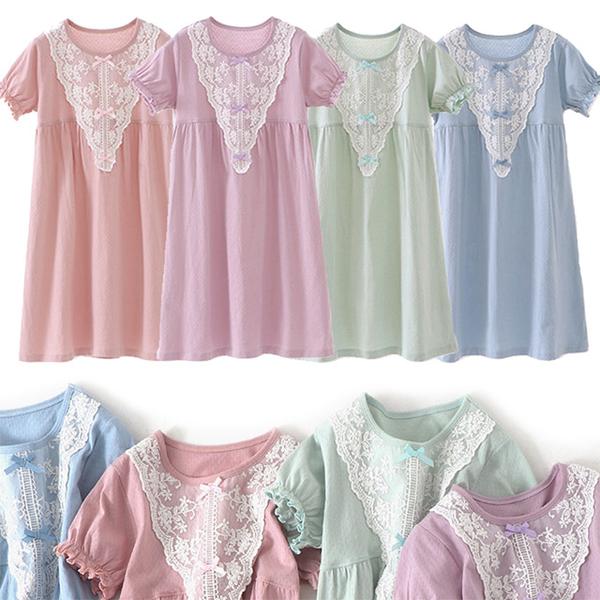[Excellent Choice] High-quality children's sweet lace princess dress pajamas